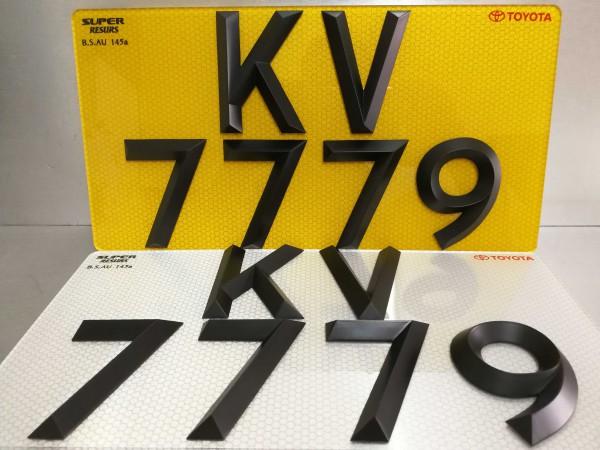 可驗車款式 尖角字 字用螺絲固定